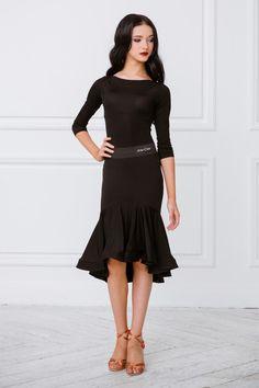 ARTE-CREO.COM // Одежда // Женская коллекция // Юбка La с асимметричным воланом с регилином