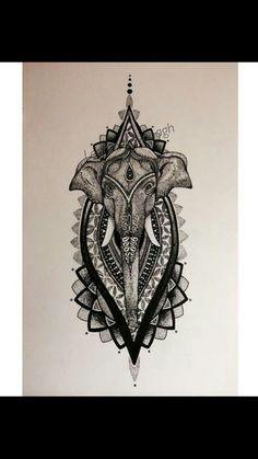Elephant Mandela tattoo im getting. Love this design. Very excited