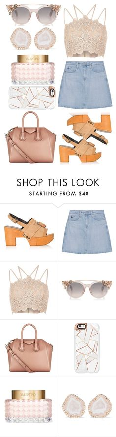 """I just wanna stay afloat"" by chlorineprincess ❤ liked on Polyvore featuring Robert Clergerie, AG Adriano Goldschmied, River Island, Givenchy, Casetify, Valentino, Kimberly McDonald and platforms"