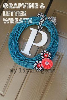 My Little Gems: New Front Door Wreath Idea {for less than $2}