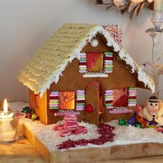 Largest Gingerbread house template
