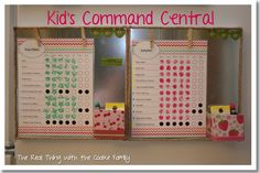 organizing ideas, kid command, command centers, kids chore charts, the real, kid chores, kid stuff, coak famili, command central
