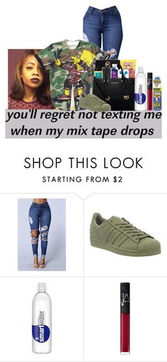 """Untitled #295"" by clarinet4ever ❤ liked on Polyvore featuring adidas and NARS Cosmetics"