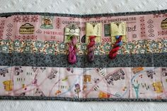 Flower and Linen Cottage Garden Thread holder. Pattern by Gail Pan Designs, Fabric used from stash, Cottage Garden Threads http://flowerandlinen.blogspot.com.au/2015/02/cottage-garden-thread-holder.html