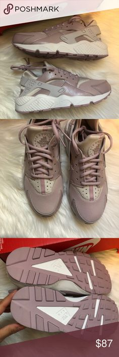 Shop Women s Nike Pink White size Sneakers at a discounted price at  Poshmark. Description  Womens air huarache run size in vast grey particle  rose . 4292bf455