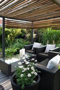 Cheap Pergola, Pergola Patio, Backyard Patio, Backyard Privacy, Outdoor Rooms, Outdoor Living, Outdoor Furniture Sets, Outdoor Decor, Backyard Furniture