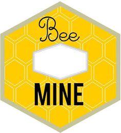 """Bee Mine"" Valentine with Burt's Bees Lip Balm and Thumbprint Bee.  Free-Printable!"