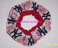 KC Royals Flannel Notes Scrunchie//Scrunchies for Hair//Baseball