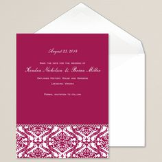 Love's Reflection Wedding Invitation | #exclusivelyweddings