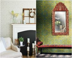 Design Challenge: Colorful vs Neutral Stencil Ideas using Wall Stencils from Royal Design Studio