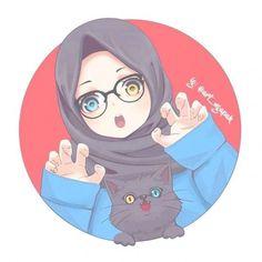#wallpaper #hijab #hijab Hijab Drawing, Wallpaper Hp, Islamic Cartoon, Hijab Cartoon, Drawings Of Friends, Digital Art Girl, Cute Cartoon Wallpapers, Anime Art Girl, Girl Cartoon