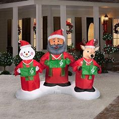 Are you looking for some cool Animated Outdoor Christmas Decorations? You'll find a GREAT selection of animated Christmas decorations for outside Holiday! Animated Christmas Decorations, Outside Christmas Decorations, Christmas Inflatables, American Decor, Santa And Reindeer, Cool Animations, Funny Christmas, Choir, Snowman