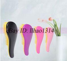 Massage Wig Hair Brushes Plastic Abs Virgin Hair Combs Anti-Static Detangle Tool