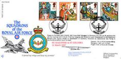 RAF FDC 45 Squadrons of the RAF Full Set of St Augustine & St Columba FDC