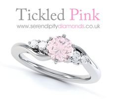 Love this pink diamond engagement ring