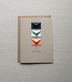 Love Always Tiny Envelopes Card by LemonDropPapers on Etsy, $6.50