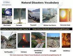 Natural Disasters Vocabulary