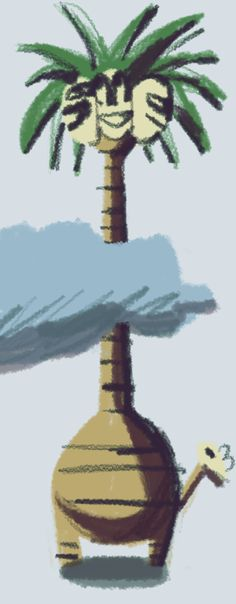 Alolan Exeggutor drawn using Scriba! We are just as obsessed with Pokémon as everyone else right now! Digital Art, Group, Wall, Inspiration, Biblical Inspiration, Walls, Inhalation, Motivation
