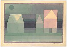 Tres Casas Paul Klee (alemán (nacido en Suiza), Münchenbuchsee 1879-1940 Muralto-Locarno) Fecha: 1922 Medio: Acuarela sobre papel, que limita con la acuarela Dimensiones: H. 7-7/8, 11-7/8 pulgadas (W. 20,1 x 30,2 cm.) Clasificación: Dibujos Línea de crédito: La Colección Berggruen Klee, 1984