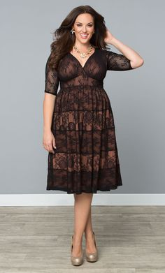 Check out the deal on Tiers of Joy Lace Dress at Kiyonna Clothing