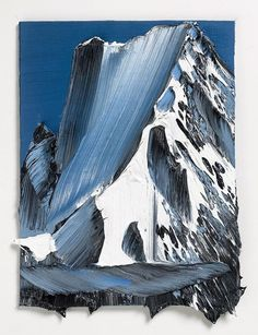 it amazes me what some people can do with paint. the feeling of rock and cold and mist and altitude that these pieces by Swiss artist Conrad Jon Godly convey is just unbelievable. Godly originally stu
