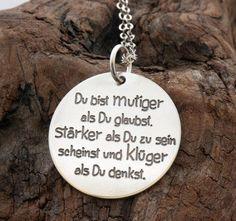 """Namensketten - """"BärenStark"""" Pooh, der Bär 925-Silber - ein Designerstück von MakeMD bei DaWanda"""