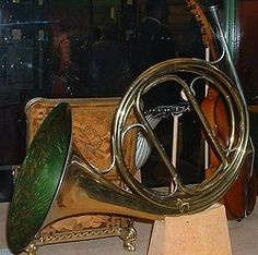 A Natural Horn, the ancestor of the French Horn. It's neat because it proves just how much you can change your pitch in the horn just by the placement of your hand.
