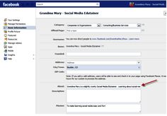 How to use the about section on Facebook