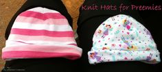 Soft baby hats for premies TUTORIAL ~ Sewing The Littleheart Collection
