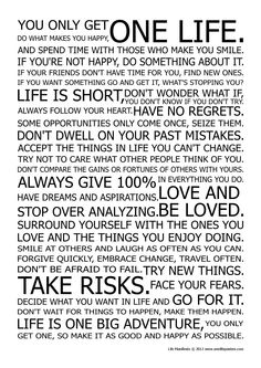 you.only.get one life poster - Google Search