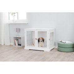 Tucker Murphy™ Pet Cauthen Mid Century Plush Dog Sofa & Reviews   Wayfair Contemporary Dog Houses, Wood Dog House, Wooden Dog Crate, Dog Sofa Bed, Pet Gate, Dog Rooms, Types Of Beds, Dog Pen, Crates
