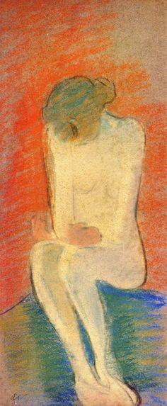 Seated Nude / Edouard Vuillard - circa 1890-1892