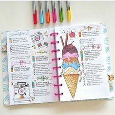 réaliser de jolis dessins dans son planner, idée charmante pour votre agenda scolaire personnalisé