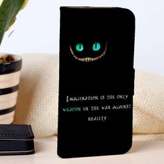Cheshire Cat Quotes | Disney | custom wallet case for iphone 4/4s 5 5s 5c 6 6plus case and samsung galaxy s3 s4 s5 s6 case - RSBLVD