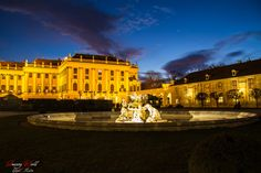 Schönbrunn at night around Christmas time in Vienna, Austria Christmas Lights, Christmas Time, Vienna Austria, Live For Yourself, Dreaming Of You, Louvre, Night, World, Building