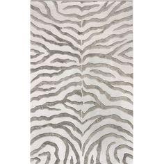 $358 - 5x8 nuLOOM Earth Soft Zebra Grey Contemporary Rug
