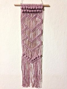 This one of a kind wall hanging will add style and character to any space of your home, such as a hallway or entry, lounge/living room, master bedroom, kids bedroom or even a balcony or patio! The art of Macrame has become a huge trend in recent years and many people have embraced this art