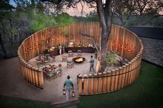 andBeyond Tengile River Lodge is a brand new luxury safari property situated in the prestigious Sabi Sand Game Reserve in South Africa. Landscape Architecture, Landscape Design, Ideas Cabaña, River Lodge, Garden Design Plans, Farm Stay, Garden Cottage, Garden Structures, Outdoor Entertaining
