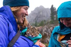 Women Rescue Stray Cats And Take Them Hiking And Camping - Cat Photography Kayaking With Dogs, Cute Animals Images, Adorable Animals, Funny Animals, Camping With Cats, Adventure Cat, Adventure Awaits, Funny Cute Cats, Go Hiking