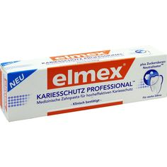 ELMEX KARIESSCHUTZ PROFESSIONAL Zahnpasta:   Packungsinhalt: 75 ml Zahnpasta PZN: 10302593 Hersteller: CP GABA GmbH Preis: 4,03 EUR inkl.…