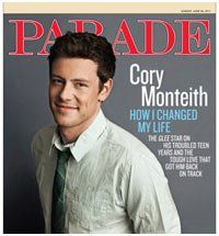 Parade Magazine, June 26, 2011, Cory Monteith. « Library User Group