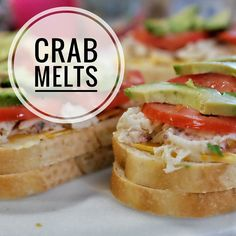 Thanks for your crab suggestions! We started with crab melts tonight and they were delicious and super easy. It's basically sourdough bread buttered on the outside Colby Jack sliced cheese crab with a little mayo & garlic seasoning sliced tomatoes sliced avocado and then cooked on the griddle. Served with a green smoothie and voilà! Dinner is served. #currentlywandering