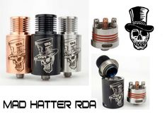 Mad Hatter Rebuildable atomizer with free postage only at www.vapsol.com.au