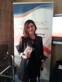 Finola Hughes of General Hospital, gifted with Praline Rose LipSense