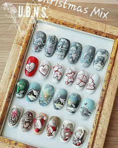 Some of my work from but I still love them:)❄☃️🎿⛷⛸❤ nail art designs 2019 nail designs for short nails 2019 kiss nail stickers nail appliques nail art strips Latest Nail Art, Trendy Nail Art, New Nail Art, Xmas Nails, Christmas Manicure, Holiday Nails, Winter Nail Art, Winter Nails, Nail Art Noel