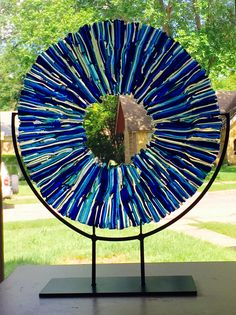 "Kessler Craftsman ""Vitrium"" Fused Art Glass Sculpture"