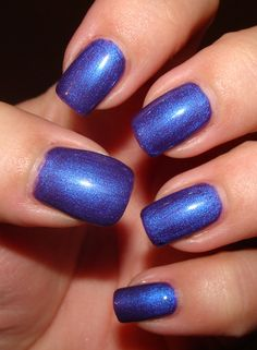 CND Shellac in Purple Purple. Love this color! I used to have an iridescent leather jacket in this exact color. Sigh...