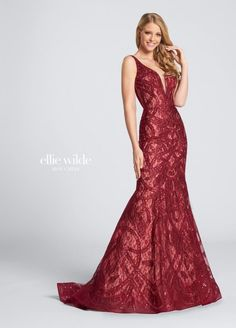 1ed95b81ce4a Style EW21719 from Ellie Wilde by Mon Cheri is a sleeveless mermaid evening  gown in Lace
