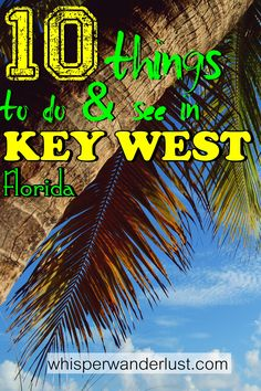 Key West, the southernmost city in the United States is located on the last island of the Florida Keys archipelago. Top 10 things to do in Key West Visit Florida, Florida Vacation, Florida Travel, Travel Usa, Travel Tips, Budget Travel, Travel Guides, Florida Trips, Cruise Travel