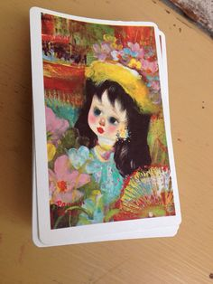 Vintage Arrco Playing Cards - Porcelain Doll / Watercolor Style - Chicago  on Etsy, $4.95